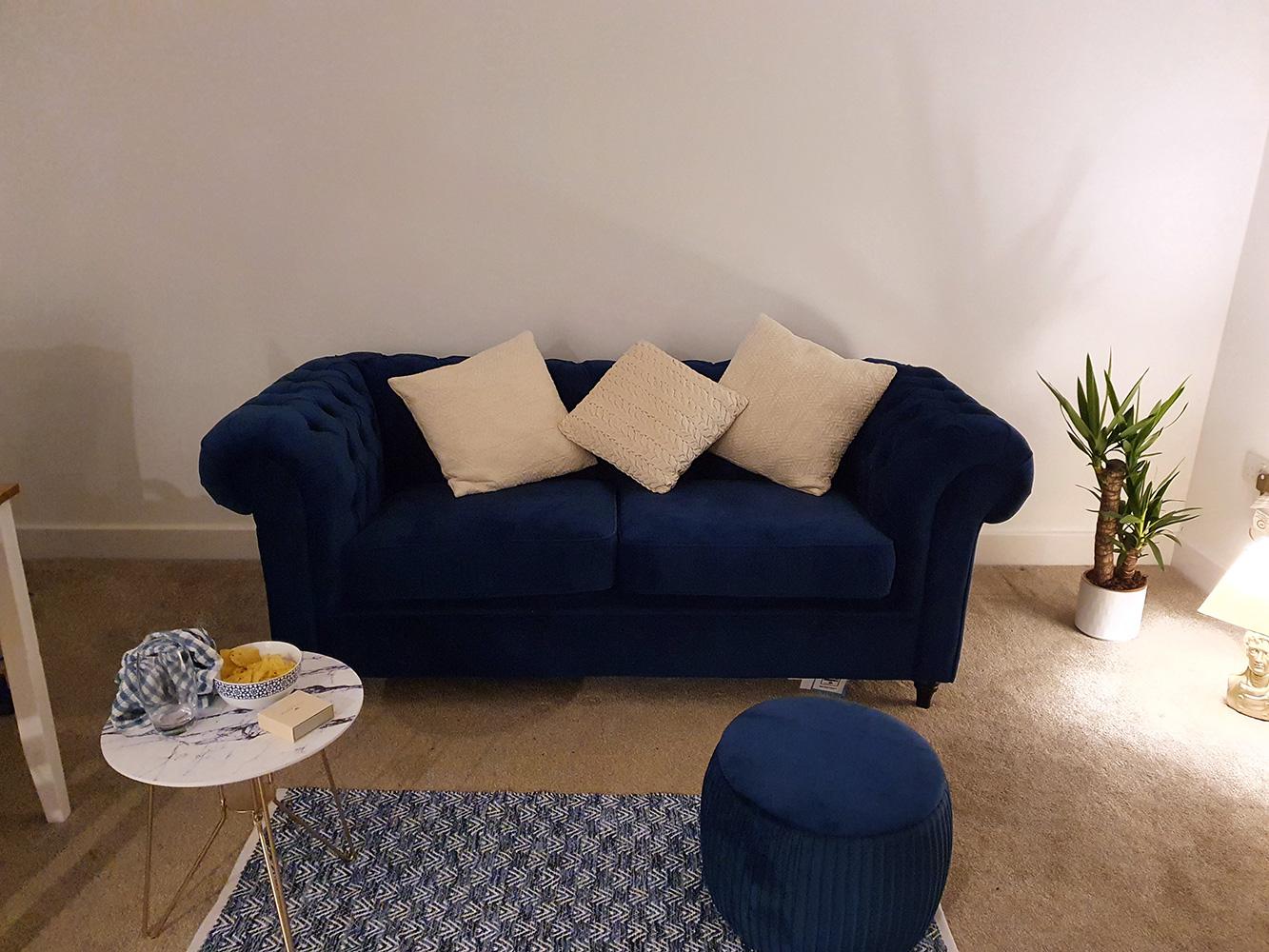 Marineblaues Chesterfield-Sofa von Sophie