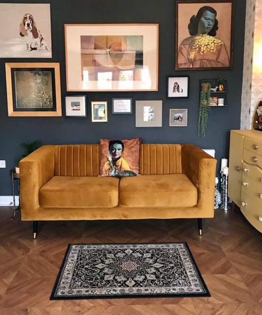 Senffarbenes 2-Sitzer-Sofa Slender von Esther
